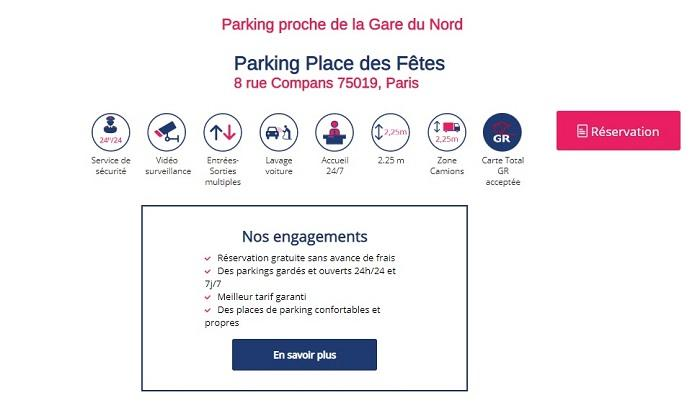 parking indigo gare du nord